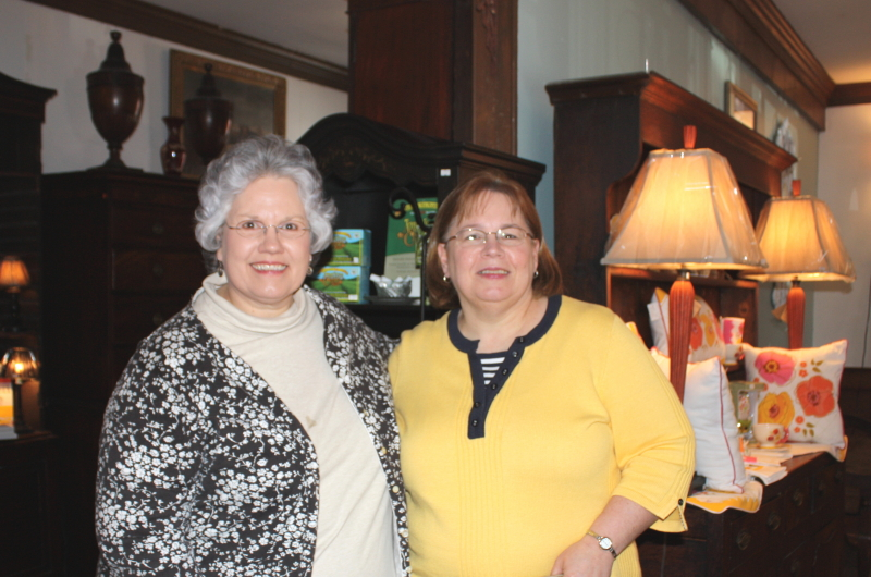 Deb and Christine at Chickahominy House