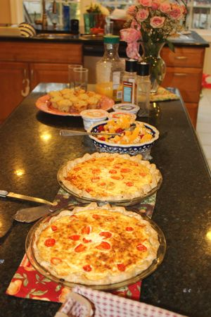 Quiche, Fruit, Muffins ~ delicious!