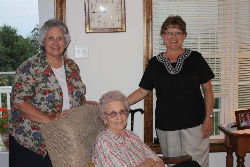 Friends visiting....Deb, Granny, Donna