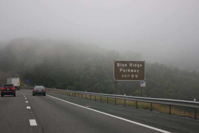 Rainy foggy day