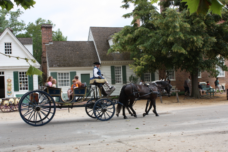 Colonial ride through town