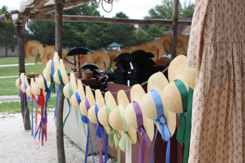 Hats for sale along DOG Street