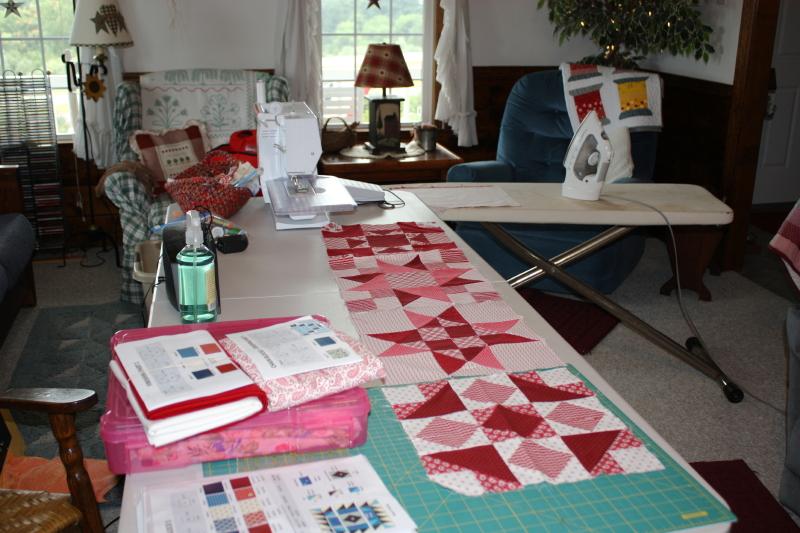 Living Room as Sewing Room