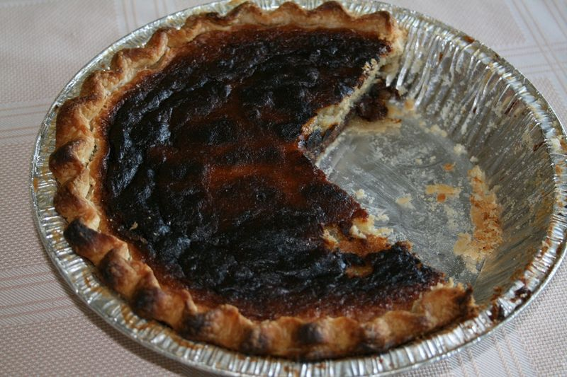 Burnt pie