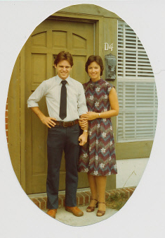 Tom & Deb ~ in front of our first abode