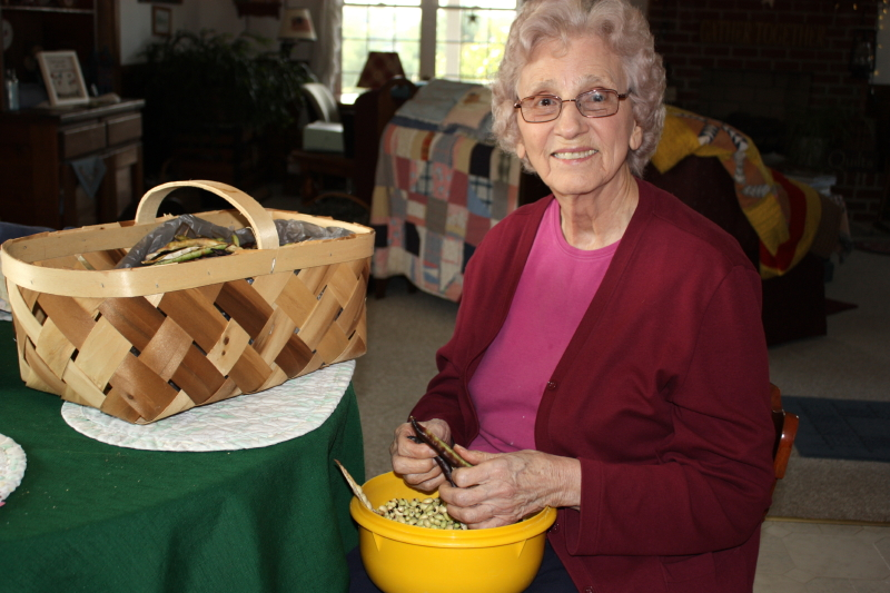 Pea-shelling Granny