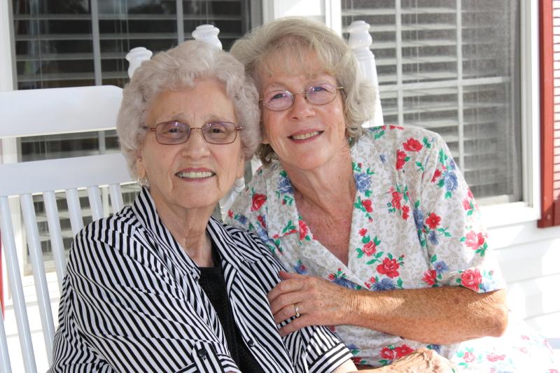Granny & her friend Cheryl ~ Oct 2013