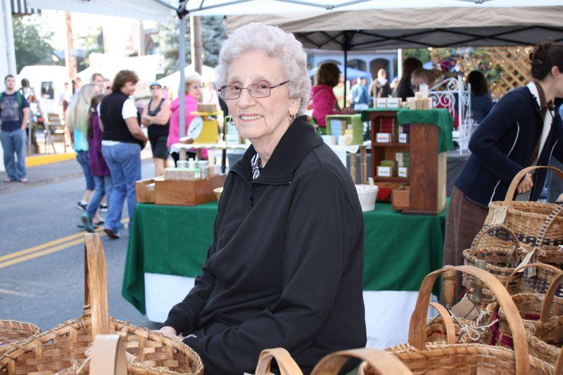 Granny, the sales lady!