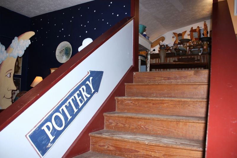 3 floors filled with pottery and gifts from American artisans