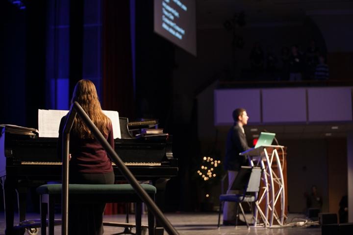 Singing at Worship of God conference ~ photo credit NCFIC blog