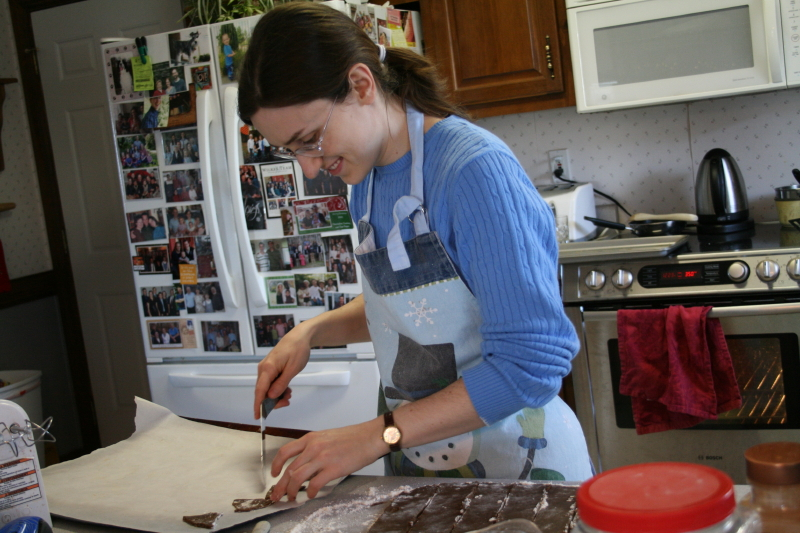 Sarah making cookies 2013