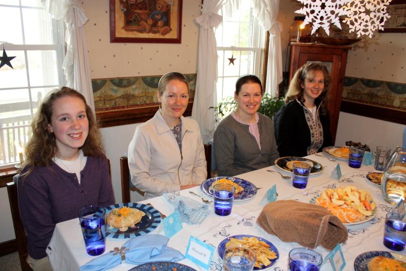 Luncheon Guests: Sarah, Alena, DiAna, Hannah