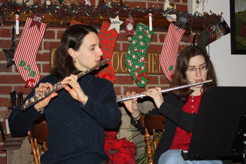 Hannah and Sarah ~ Christmas eve program