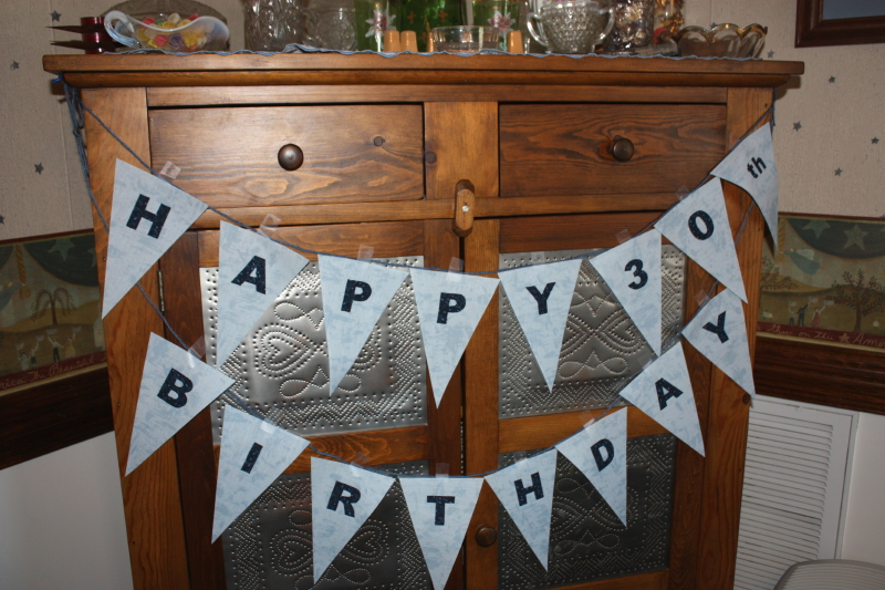 Birthday banner for surprise luncheon
