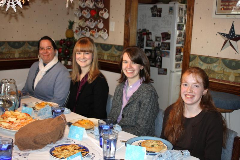 Luncheon guests: Sarah, Anna, Abigail, Anna