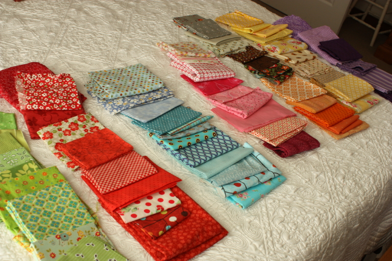 Fabrics for Row Along ~ Deb