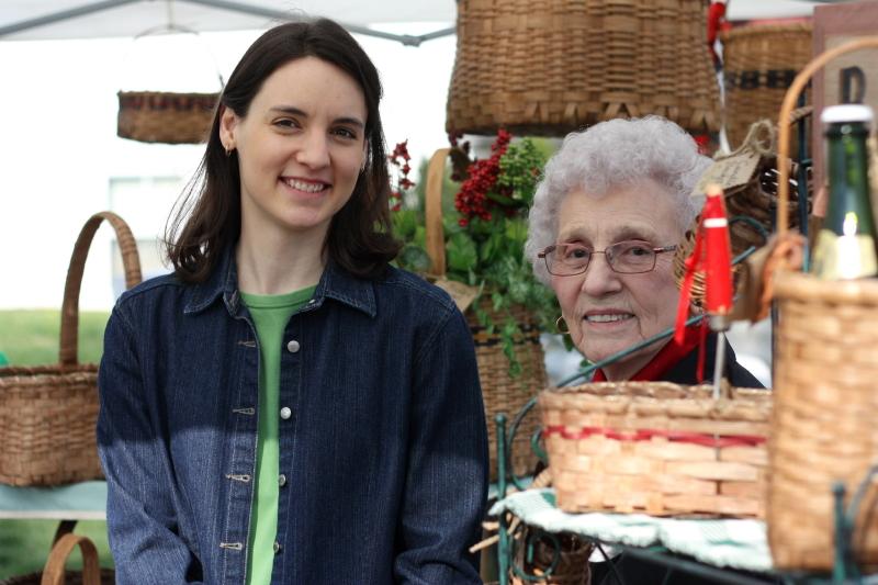 Hannah and Granny at the Redbud Festival
