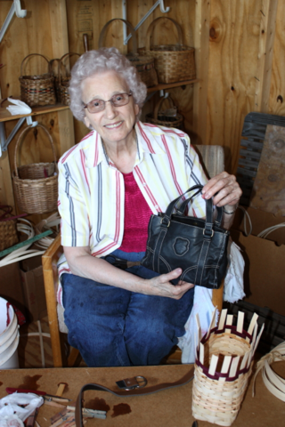 Granny in the basket shed