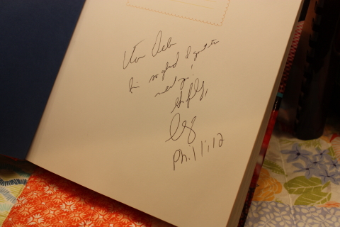 Christy's autograph ~ Phil 1:12