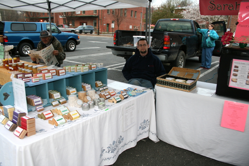 Early Saturday morning ~ Jonathan at the Farmers' Market