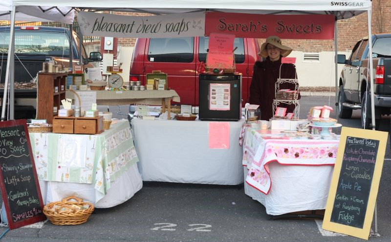First day of market - still a bit chilly first thing in the morning!