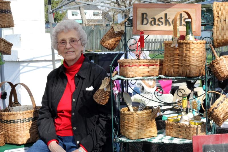 Redbud Spring Festival ~ 2014. Granny awaiting her customers.