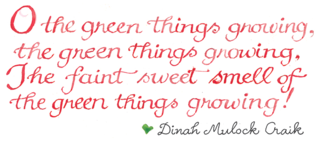 Garden quote ~ credit Susan Branch art