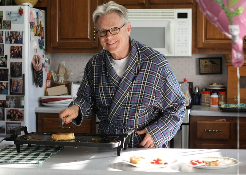 Dad making french toast