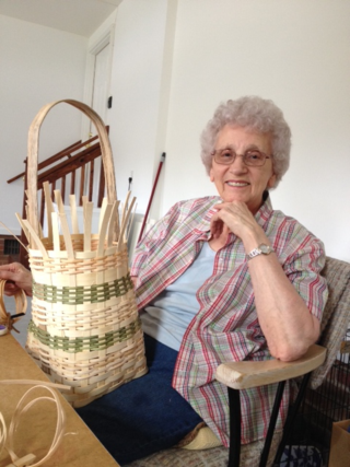 Granny making a mustard basket in SC
