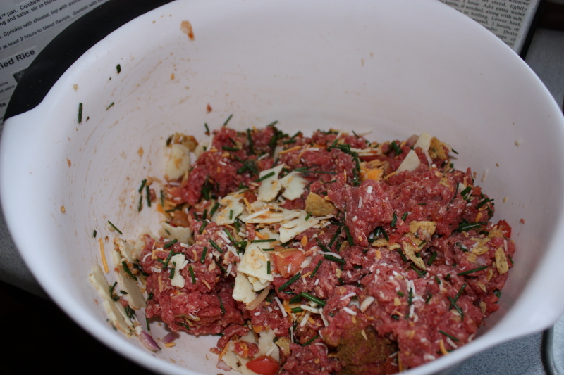 Bowl of Santa Fe  Burger ingredients