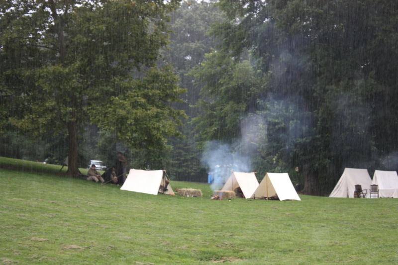 Rainy campsites