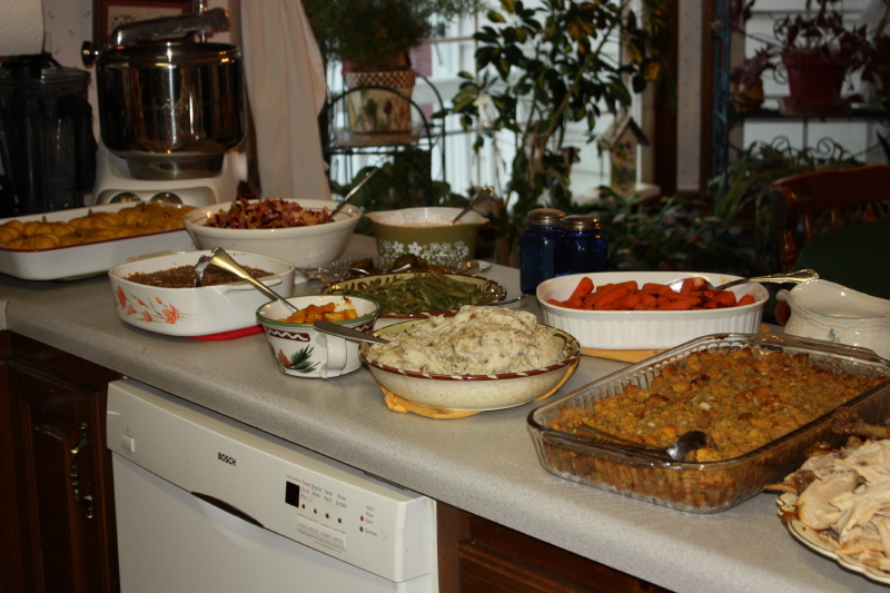 the Thanksgiving spread!
