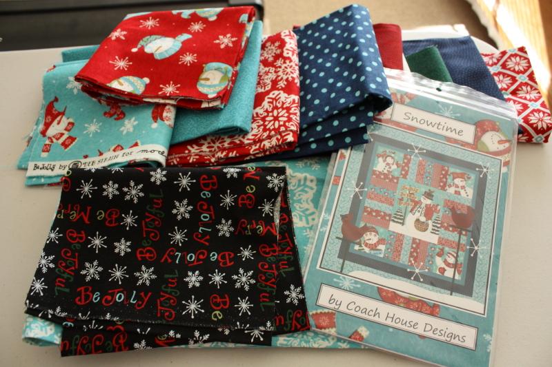 Snowtime quilt kit