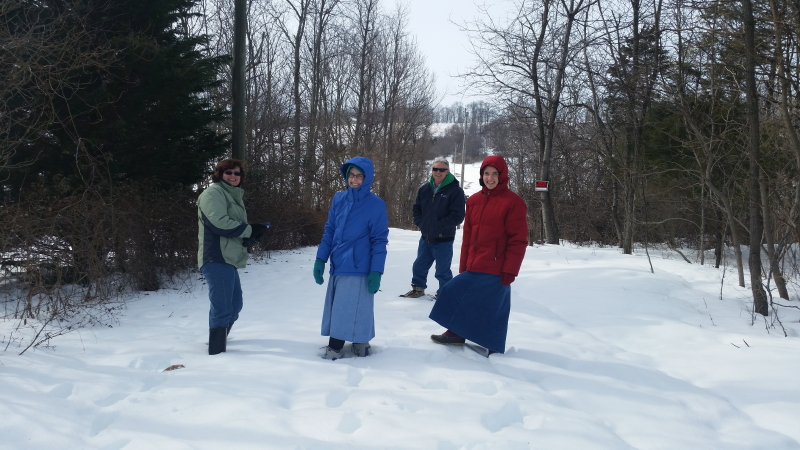 Crusty deep snow trek!