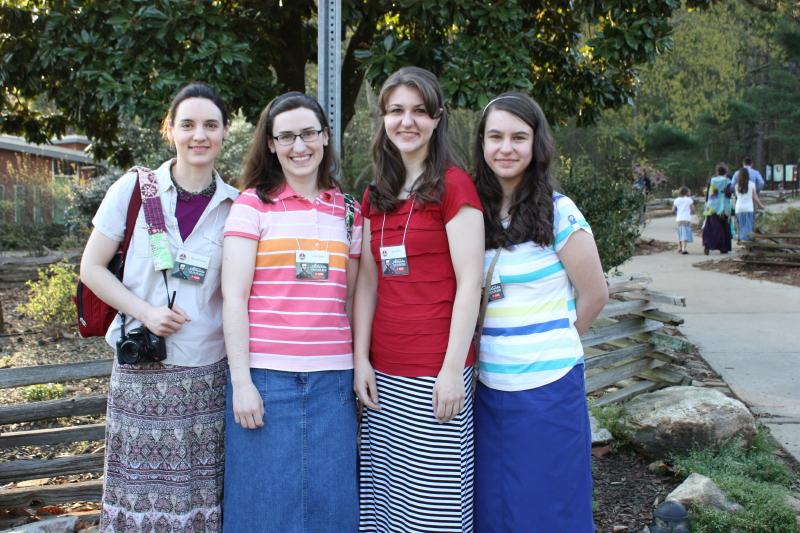 Hannah, Sarah, Abby, Emma at Kennesaw Mountain