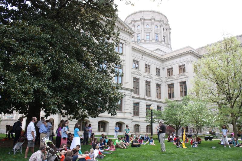 Georgia Capitol lawn
