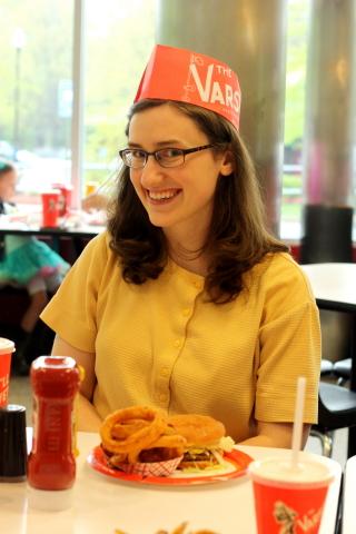 Sarah at The Varsity!