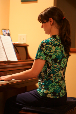Abby playing piano
