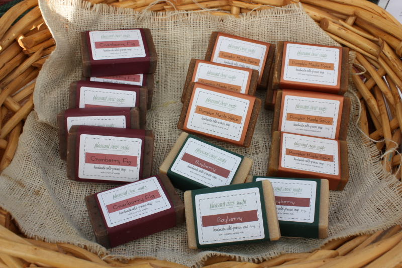 Basket of Soaps ~ Cranberry Fig, one of my favorites!