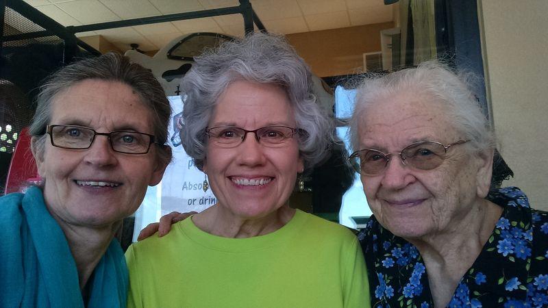 Barbara, Deb, Barbara's mom
