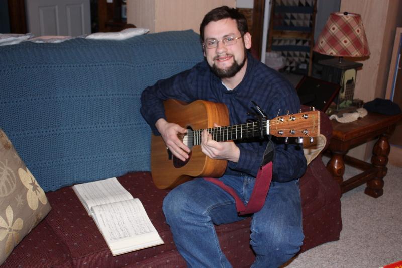 Jonathan playing guitar