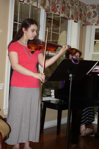 Emma on violin