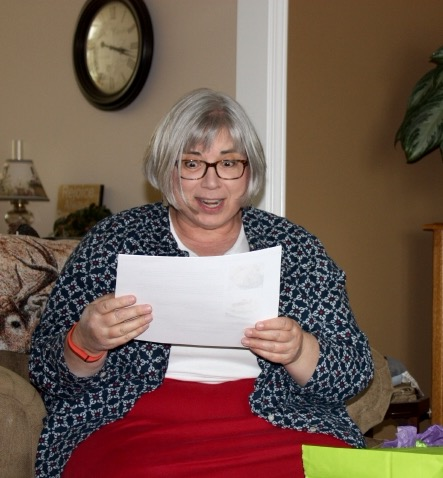 Bet opening her birthday gift