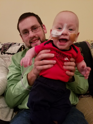 Uncle Jonathan and smiling Andrew