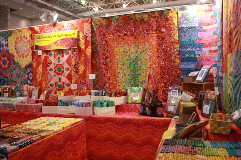 Kaffe Fassett fabric booth