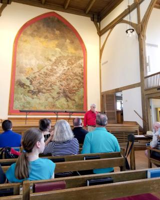 Inside VMI chapel