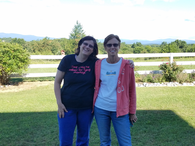Aunt Toots and Aunt Ellen ~ last day in VA