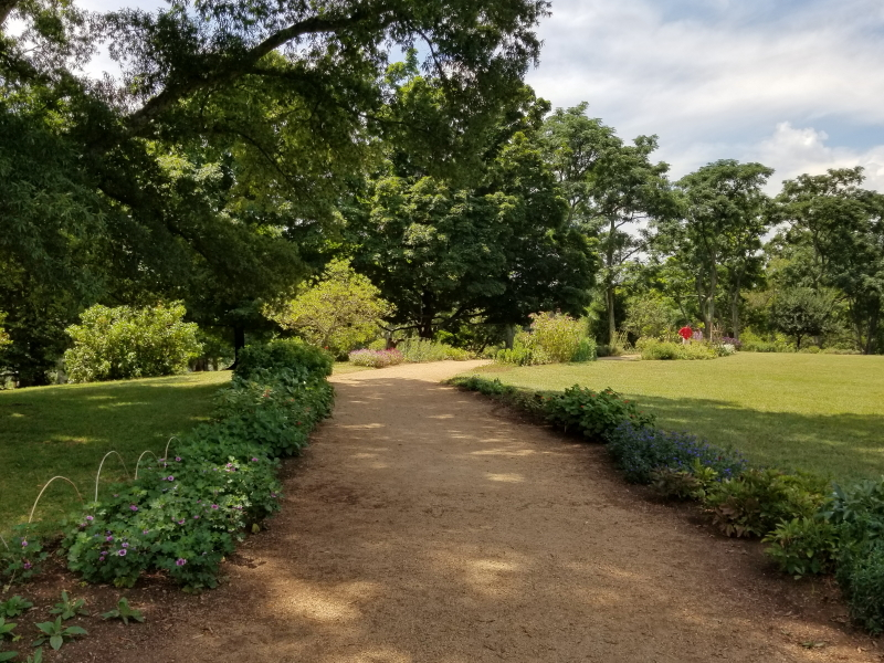 Jefferson's flower walk