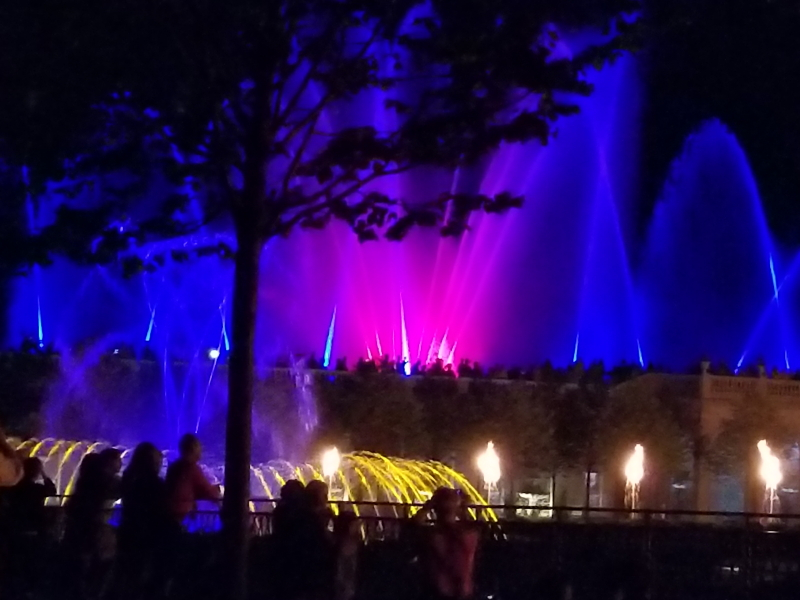 Fountain Light Show at Longwood Gardens