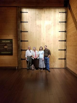 Noah's Ark, door and the cross